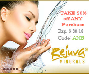 Take 20% Off Your Rejuva Minerals Purchase Until June 30, 2018