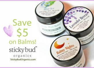 Save $5 on Sticky Bud Balm