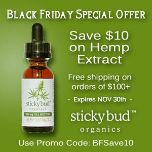 Save $10 on EVERY BOTTLE of Hemp Extract!
