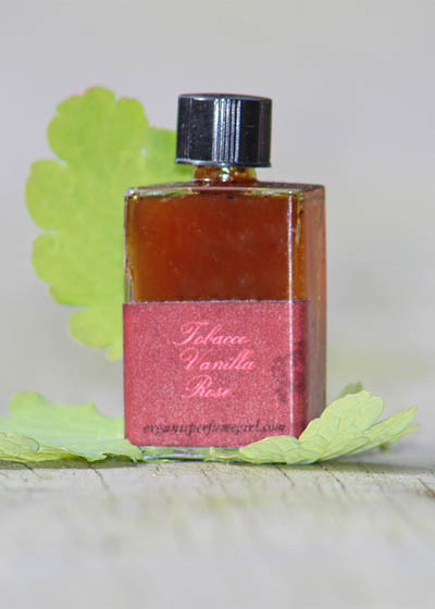 Tobacco Vanilla Rose Botanical Perfume from Organic Perfume Girl
