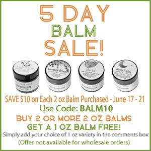 Sticky Bud Organics 5-DAY BALM SPECIAL